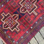 Handmade Afghan Kazakh Rug 100% Camel Hair Geometric Patterns Tribal Design 4x6