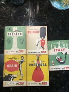 TWA 1956 Travel Tips Guides~Portugal~Italy~Ireland~Spain~Britain