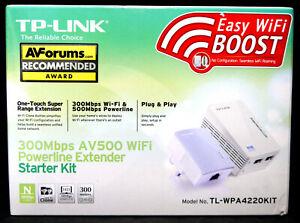 TP-Link 300Mbps AV500 WiFi Powerline Extender Starter Kit : TL-WPA4220KIT