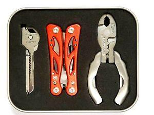Swiss+Tech Multitools Stainless Steel Trio Pocket  12-1 Micro Plus Utili-Key