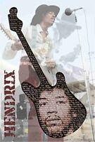Jimi Hendrix Guitar Poster 24x36in