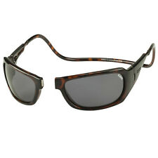 CliC Monarch Tortoise Sunglasses - Gray Lens, Low Glare, Polarized, Magnetic