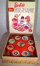 1963 Barbie's Keys To Fame Game By Mattel INCOMPLETE