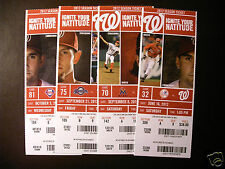 Washington Nationals 2012 Mlb ticket stubs - One ticket