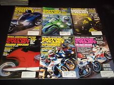 1989 MOTOR CYCLIST MAGAZINE LOT OF 12 ISSUES - GREAT BIKES NICE COVERS - M 240