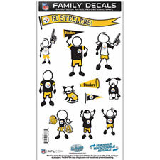 Pittsburgh Steelers Medium Family Decals 9 Pack - Auto Car Stickers Emblems NFL