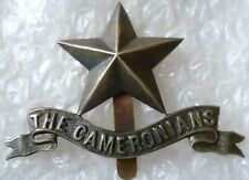 Badge- The Cameronians Scottish Rifles Pipers Badge BRONZE*