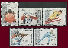LAOS N°995/999** Jeux Olympiques Albertville 1991, Winter Olympics #1016-25 MNH