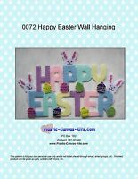 Happy Easter Wall Hanging-Bunny and Eggs-Plastic Canvas Pattern or Kit