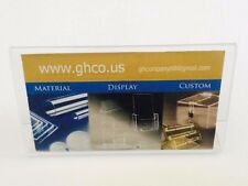 """6 Pack Business Card Clear Acrylic Sign Holder Slant Back Display 4""""x2""""  ZM"""