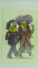 Vintage Comic Postcard Frog Pearly King & Queen Pearlies London Costermonger