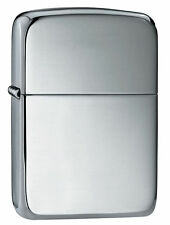 "Zippo ""Sterling Silver"" High Polish Lighter, 1941 Replica,  Velour Box, 23"