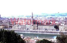 Vtg Waterfront Florence Italy  1954 Red Border Kodak 35mm Slide
