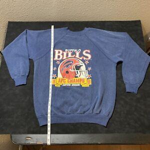 BUFFALO BILLS Vintage SWEATSHIRT AFC East 1988 Champs USA XL Trench Label NFL