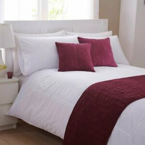 Charlotte Thomas Faux Suede Cushion Cover in Burgundy
