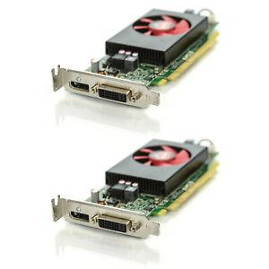 Lot of 2 Dell AMD Radeon R5 240 1GB GDDR3 DVI DisplayPort PCIe Video Card F9P1R