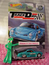 2016 Track Day Volkswagen Karmann Ghia☆blue Vw;RealRiders☆Hot Wheels Car Culture