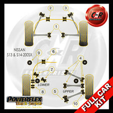 Nissan 200SX - S13 & S14 Rear Trailing Arm 45mm Bushes Powerflex Black Full Kit