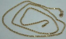 100% Genuine 14k Solid Yellow Gold French Rope Chain with Lobster Claw 46.5 cm