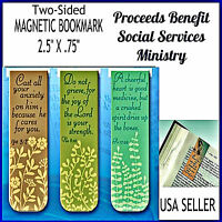 Christian Magnetic Bookmarks Be Faithful Inspirational Verses Set of 3