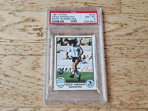 Panini 1982 Sport Superstars, rare Rookie card Diego Maradona #230, PSA 8 NM-MT