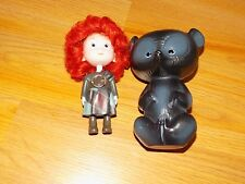 "Disney Brave Triplet Doll Harris Hubert Hamish with Cub Bear Case 4.5-5.5"" EUC"