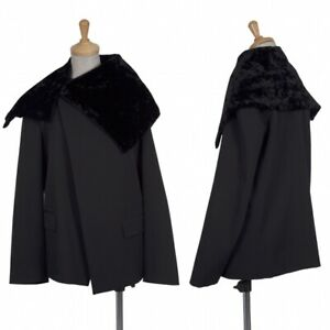 tricot COMME des GARCONS Velvet Collar Wool Jacket Size M(K-70581)