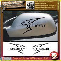 2 Stickers Autocollant Peugeot RETROVISEUR vitre carrosserie decal