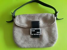 Fendi Vintage 90s Rare Soft Canvas Hand Bag Canvas 7 Missing Crystals 4 Added