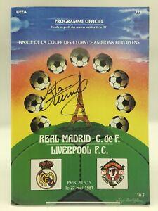 RARE Alan Kennedy Liverpool 1981 European Cup Final Signed Programme + COA PROOF