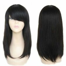 100% Real Human Hair Wigs Mens Short black Full Wig Hairpiece toupees For Man