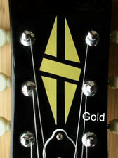H-111DH-GD Inlay Stickers, Diamond Hatch Decals Headstock Peghead (Gold)