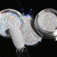 Holo Holographic Schimmer Nagel Puder Chrom Pulver Pigmente Nail Art Glitters