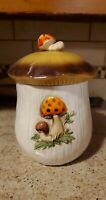 "Vintage Merry Mushroom LARGE Ceramic 11"" Canister Cookie Jar Sears Roebuck 1978"