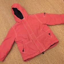 Boden Boys Red Fleece Lined Anorak Jacket Coat 3-4