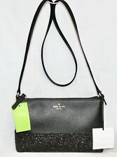 Kate Spade Greta Court Ramey Glitter Small Crossbody Black