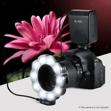 LED Macro Ring Flash Light Lamp para DSLR Camera Videocámara con adaptador