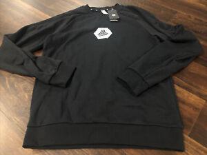 New Adidas Mens Minnesota United FC Soccer Sweatshirt Size 2XL Black