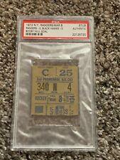 1972 New York Rangers Ticket Stub vs Chicago Blackhawks PSA Graded