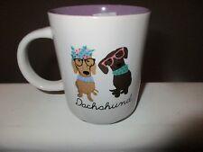 Kenzie Dachshund Dogs Porcelain 16 oz Large Mug Cup Purple