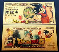 Billet DBZ Japon BILLION OR Polymère Doré Dragon Ball Z Super Gold - SANGOKU