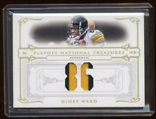 2007 TREASURES HINES WARD DUAL PRIME PATCH LOGO /86 TO JERSEY# MINT STEELER HOF?