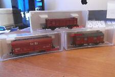 three FLEISCHMANN wagons
