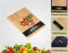 Accurate Digital Weight Scale 1g-5kg Bamboo Kitchen Scales With HD LCD Display