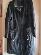 Black Light Weight Coat, size 18, length, zip fastening,fully lined.