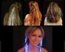 8xLed Multicolor Change Optic Hair Clips Extensions Hairpin Light-Up Braid Party