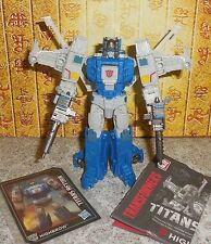 Transformers Titans Return HIGHBROW Complete Headmaster Deluxe w manual and bio