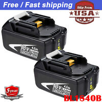 For Makita BL1840B-2 18-Volt 4.0Ah LXT Lithium-Ion Battery with Indicator 2-Pack