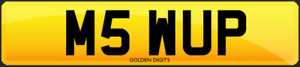M5 WUP PRIVATE CHERISHED PERSONALISED REG REGISTRATION NUMBER PLATE BMW E60 F10