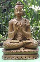 Bouddha Statue en Marbre 11 kilos Fait main Inde Népal Himalayas Méditation Yoga